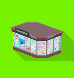 City newsstand icon flat style vector