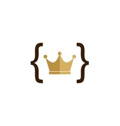 Code king logo icon design vector