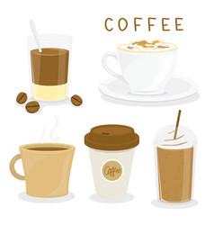 coffee cup breakfast cartoon vector image