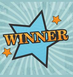 comic star winner vector image