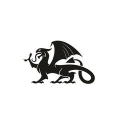dragon gryphon isolated heraldry beast animal vector image