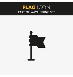 Flag icon Check mark vector image