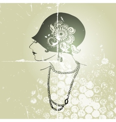 Flapper girl vector image
