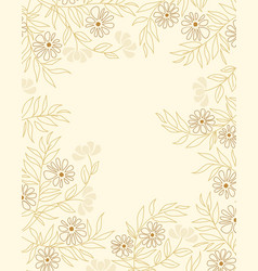 floral decoration with leaves vector image