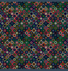 geometrical abstract circle mosaic pattern vector image