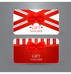 Gift voucher template with bow vector