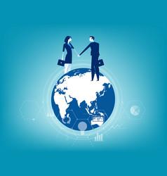 global business business contact worldwide vector image