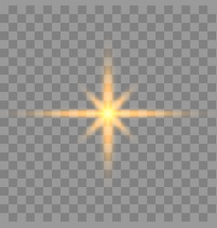 gold glowing light vector image