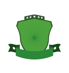 Green shield icon Label concept graphic vector image