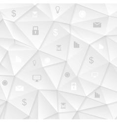 Grey low poly tech social communication design vector