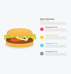 hamburger food infographics with some point title vector image