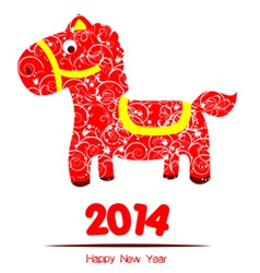 happy new year year of horse vector image