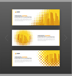 Horizontal advertising business banner layout vector