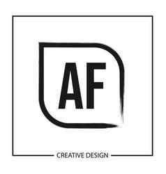 Initial letter af logo template design vector