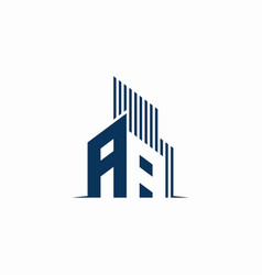 initial logo aa building abstract vector image