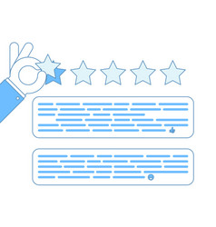 internet star rating review customer experience vector image