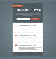 Landing page in flat style vector image