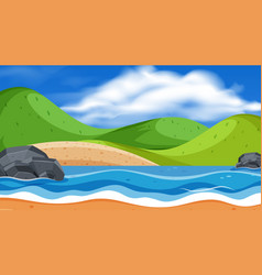 landscape background design mountain and river vector image