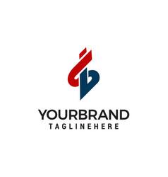 Letter s b logo design template vector
