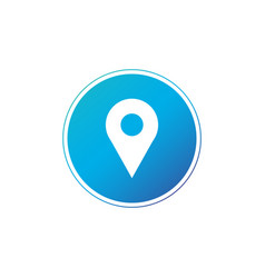 location gps map pin icon in blue circle map vector image