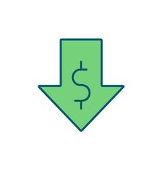 Low income rgb color icon vector