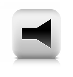 Media player icon with volume mute sign vector