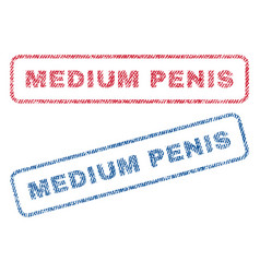 Medium penis textile stamps vector