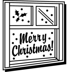 Merry christmas window vector image