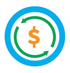 Money convert icon on white background flat vector