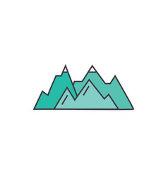 mountains line icon concept mountains flat vector image