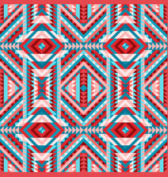 Multicolor ethnic tribal seamless pattern aztec vector