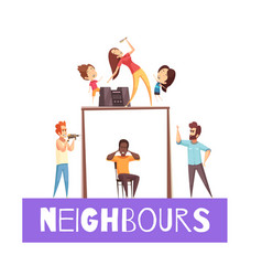 Neighbors design concept vector