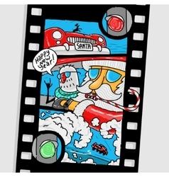 new year comics santa claus vector image