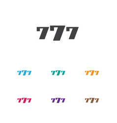Of game symbol on 7 number vector