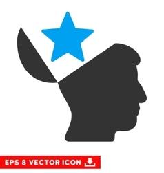 Open Head Star Eps Icon vector