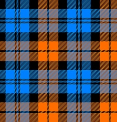 Orange and blue tartan seamless pattern vector