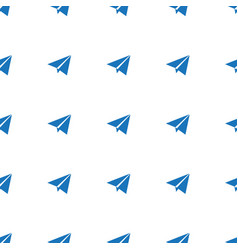 Paper plane icon pattern seamless white background vector