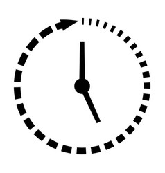 passage of time icon clock missing time vector image