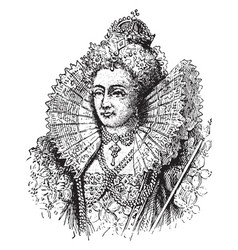 Queen elizabeth i vintage vector