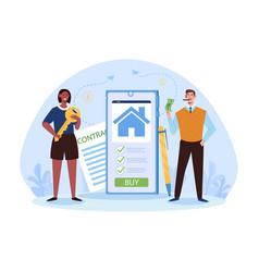 Real estate mobile application for seller vector