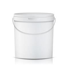 realistic bucket template bucket container vector image