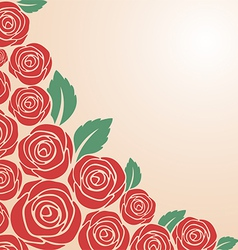 Red rose bush vector