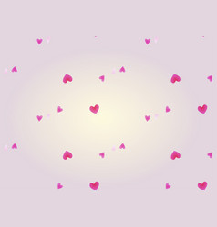 romantic valentines day background with small vector image