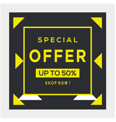 Sale banner template design big special offer vector