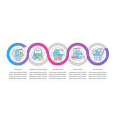 Service industry infographic template business vector
