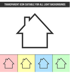simple outline transparent house silhouette icon vector image
