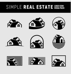 Simple real estate logo mega pack vector