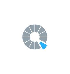 speed letter q logo icon design vector image