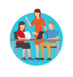 start up people at work poster vector image