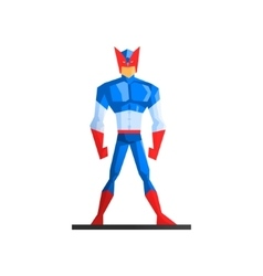 Superhero on white background vector